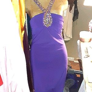 Alyce Paris Purple Jersey Dress